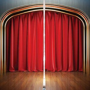 Curtains Theater Stage Drapes Print Backdrop 8271